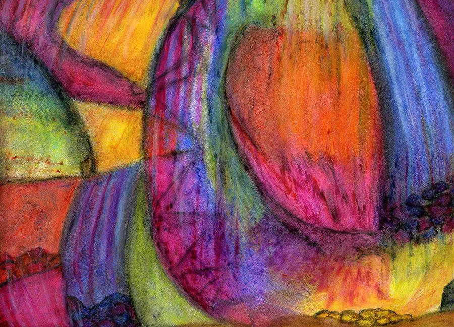 Spiritual Drawing - When The Heavens Open by Cassandra Donnelly