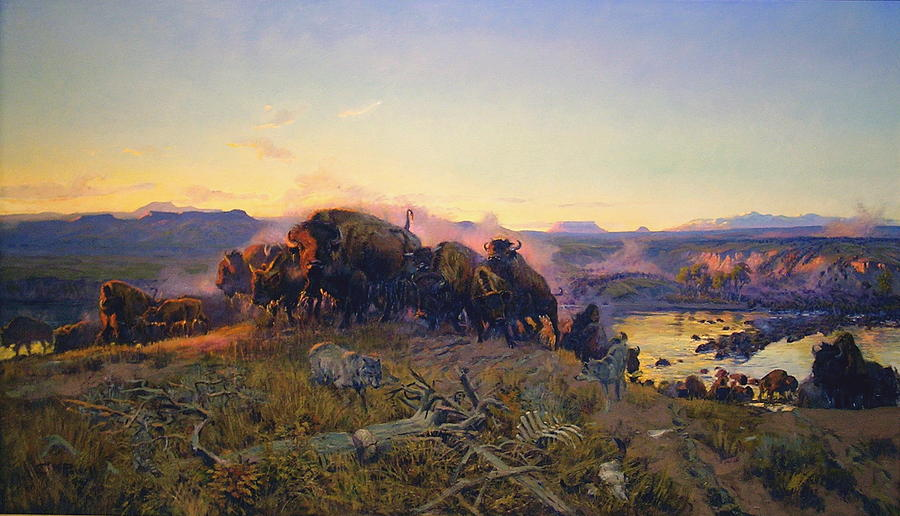 Charles Russell Digital Art - When The Land Belonged To God by Charles Russell