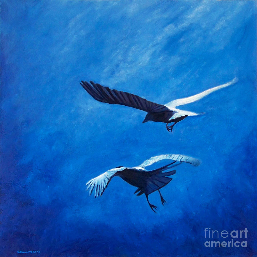 Birds Painting - When The Light Comes by Brian  Commerford