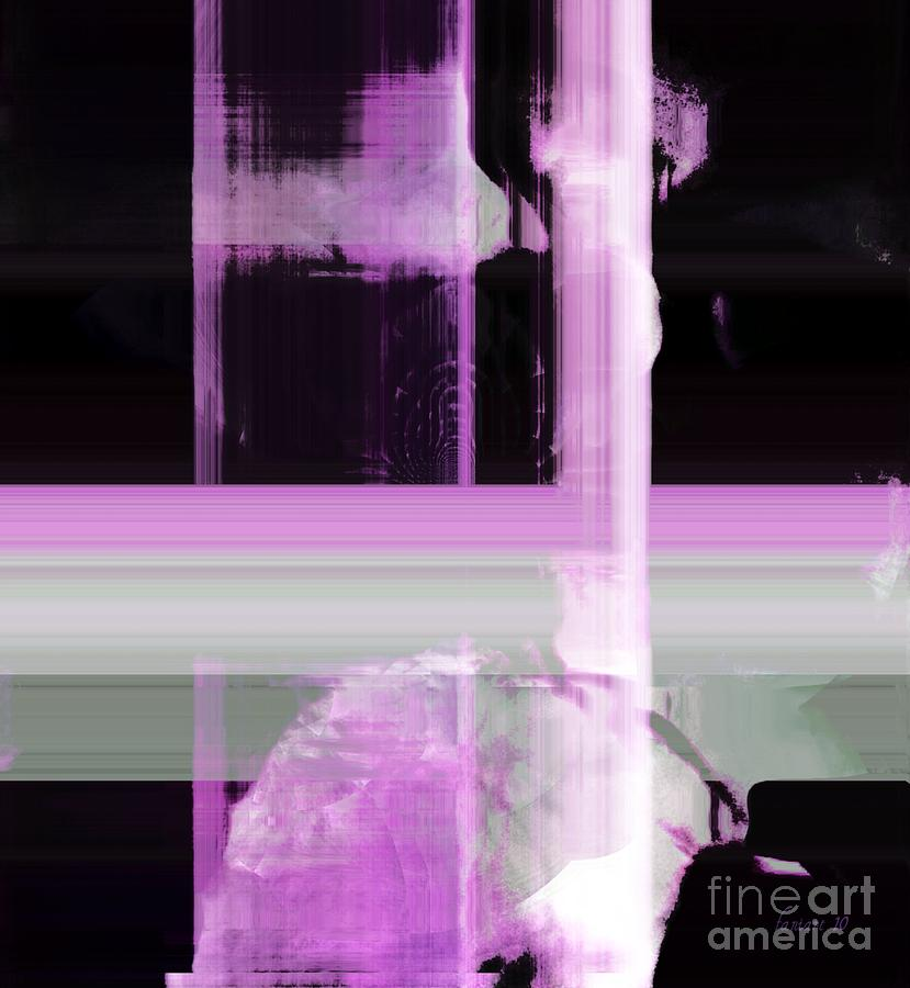 Faniart Africa America Mixed Media - When The Light Goes Purple  by Fania Simon