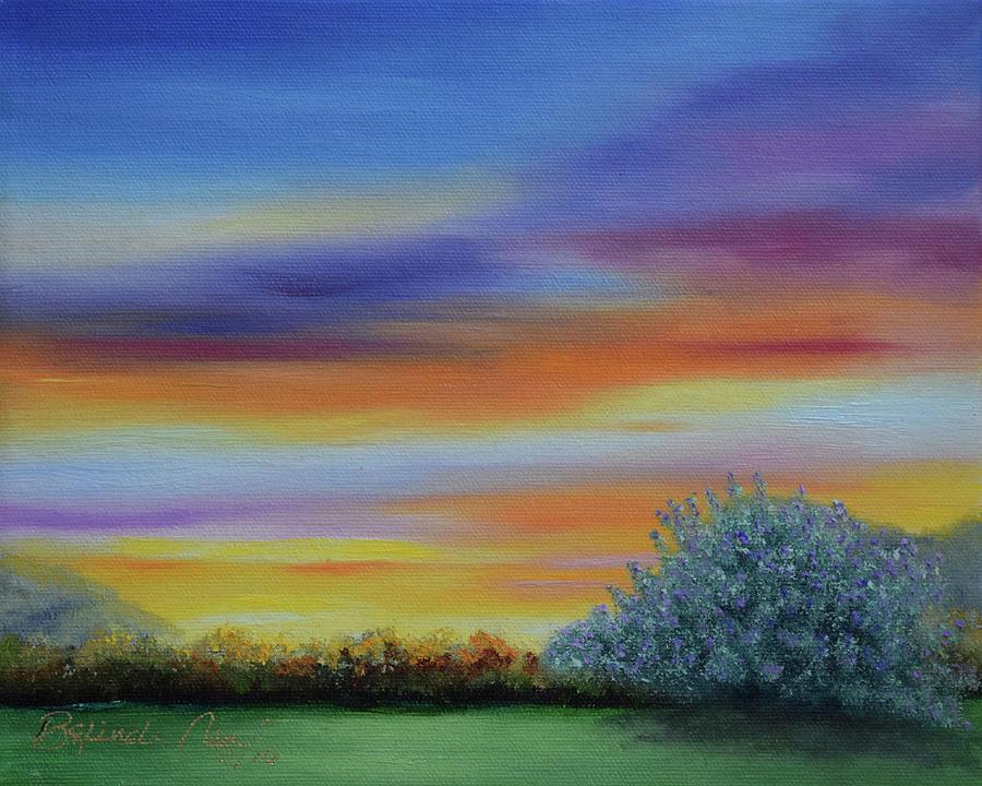 Sage Bush Painting - When The Sage Bush Blooms by Belinda Nagy