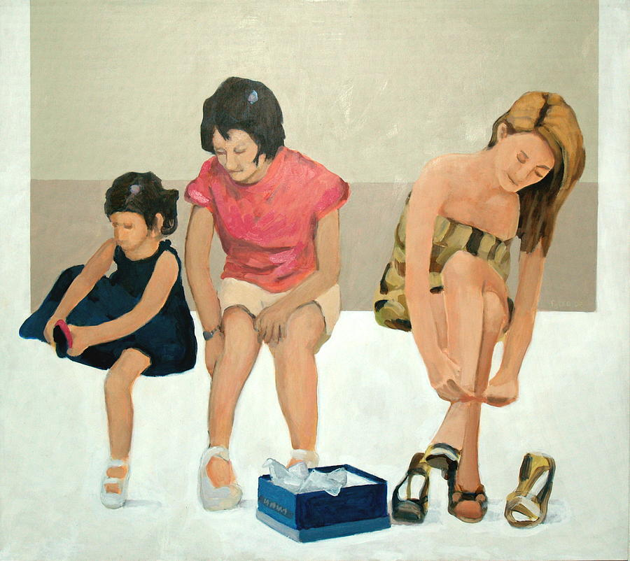 Figure Painting - When The Shoe Fits...buy It by Victor Pytko