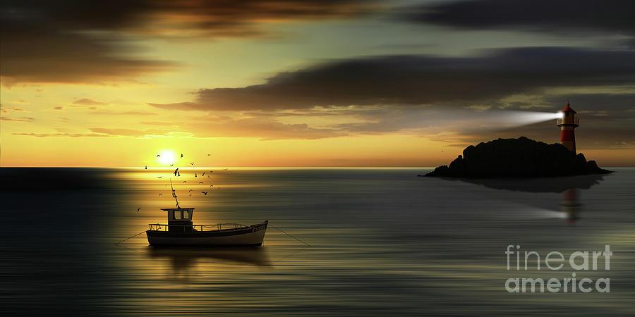 when the sun goes down by Monika Juengling