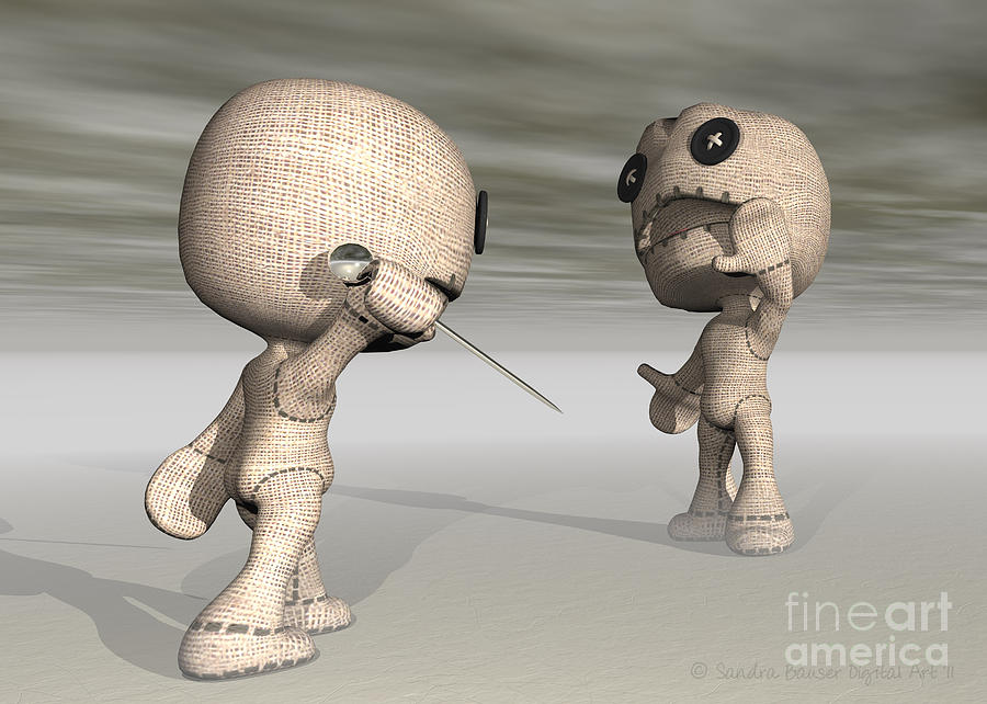 Toys Digital Art - When Toys Go Bad by Sandra Bauser Digital Art