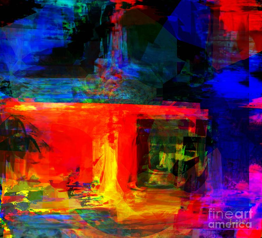 Fania Simon Digital Art - When Water Will Not Stop by Fania Simon