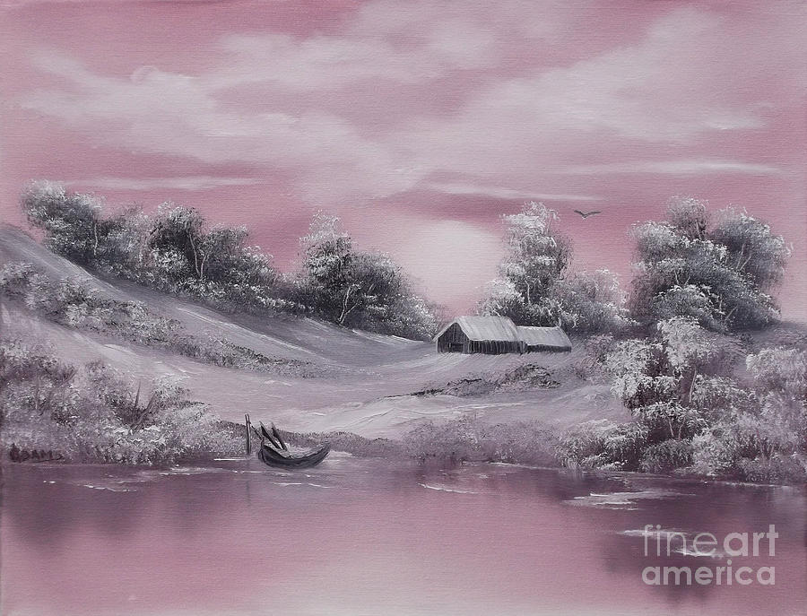 Pastel Winter-wonderland Painting - When Winter Comes Early Sold by Cynthia Adams