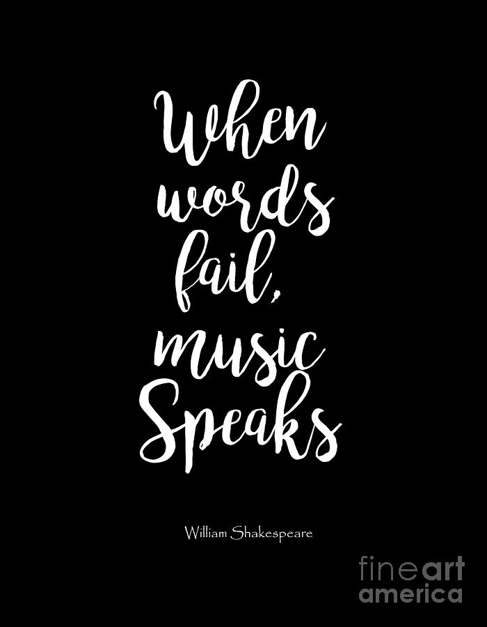 When Words Fail, Music Speaks Art