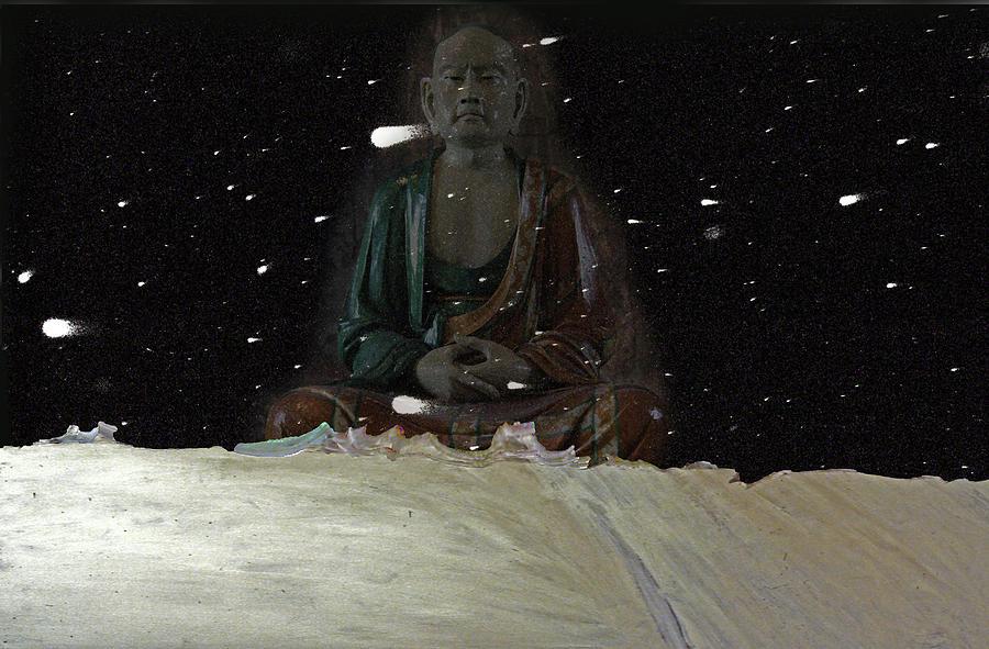 Buddha Drawing - When You Meet The Buddha by Guy Ciarcia