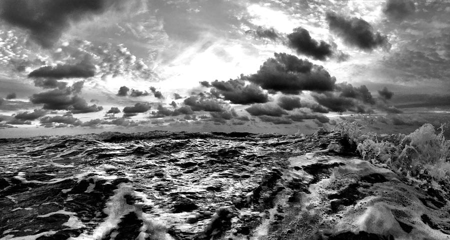 Monochrome Photograph - When You Need The Ocean, She Comes Rushing... by Andrew Royston