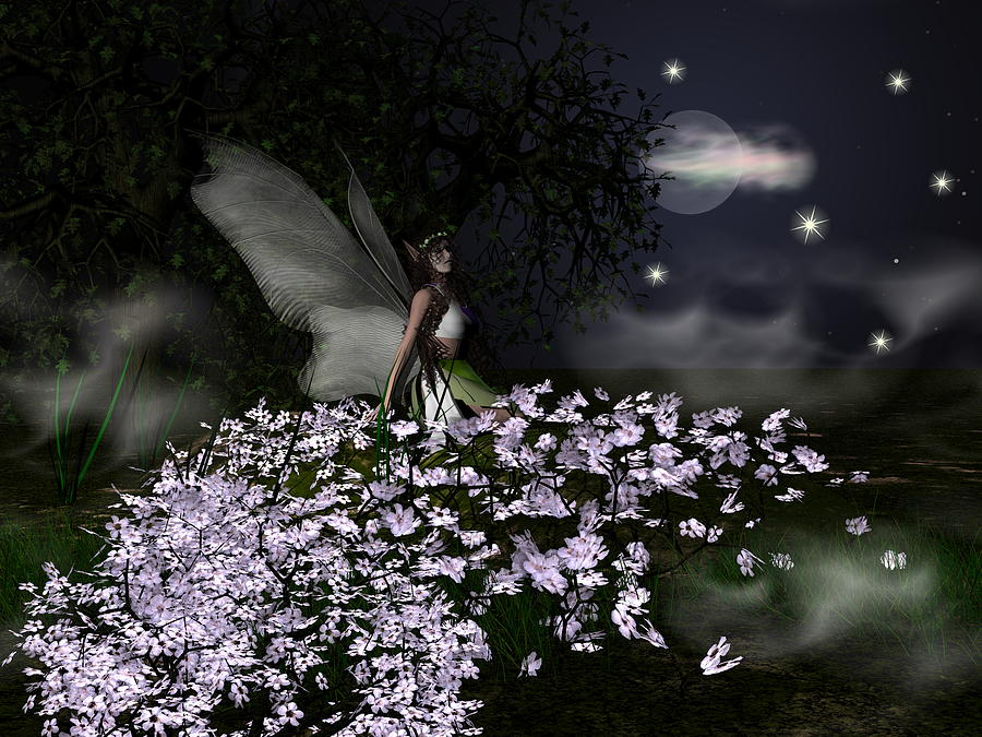 Fairy Mixed Media - When You Wish Upon A Star by Eva Thomas