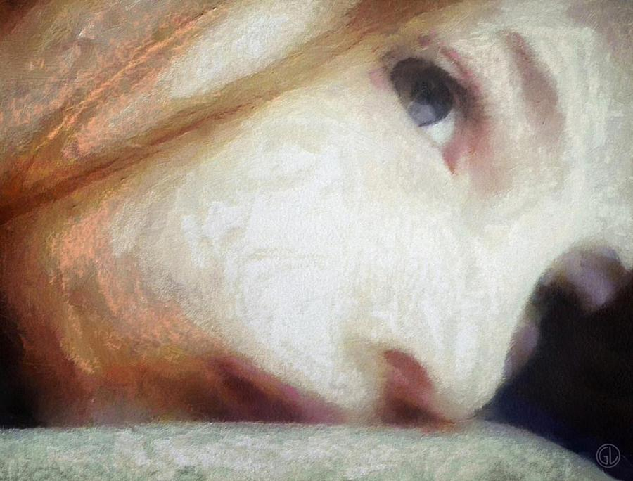 Girl Digital Art - Where Are Your Thoughts by Gun Legler