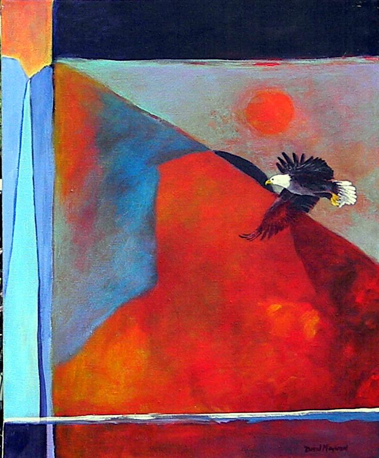Abstract Painting - Where Eagles Dare  by David  Maynard