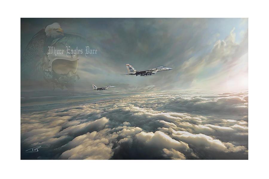 War Digital Art - Where Eagles Dare Xxl by Peter Van Stigt