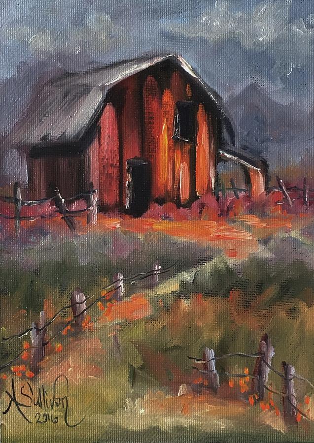 Barn Painting - Where Flowers Bloom by Angela Sullivan