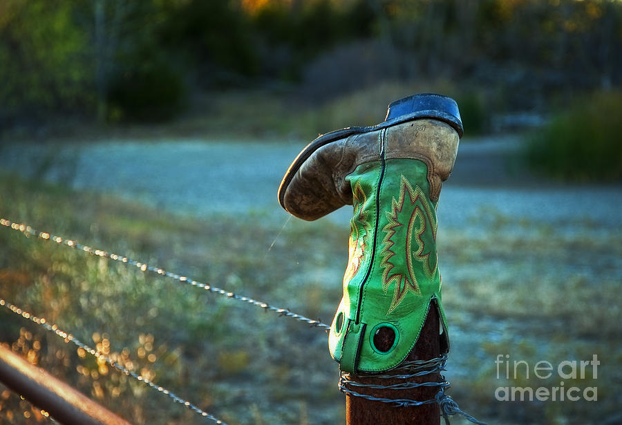 Kansas Photograph - Where Good Boots Go by Fred Lassmann