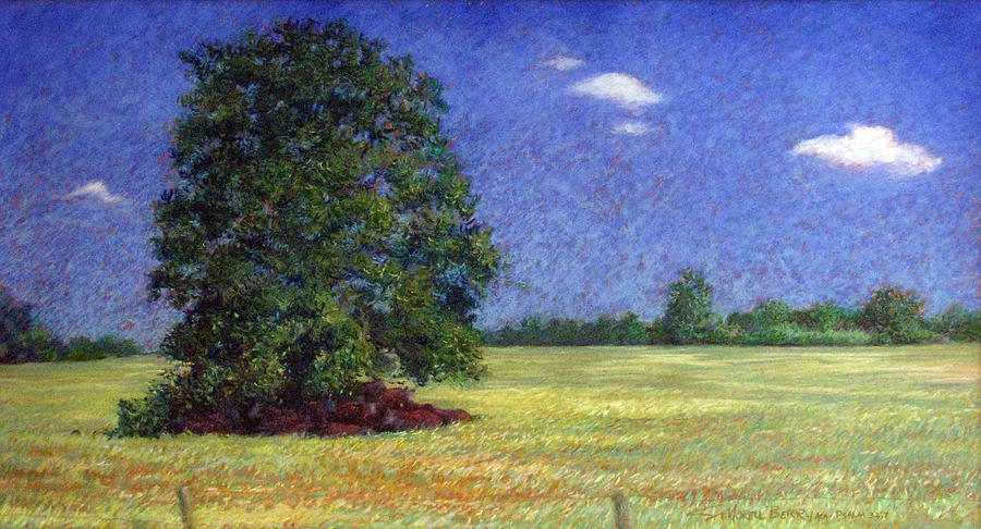 Pastel Landscape Painting - Where Have All The Cows Gone by Suzanne Berry
