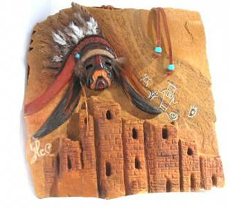 Native American Cliff Dwellings Relief - Where Have They Gone  by Margaret A Clark Price