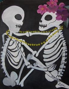 Dia De Los Muertos Painting - Where Have You Been All My Life by Ruth Olivar Millan