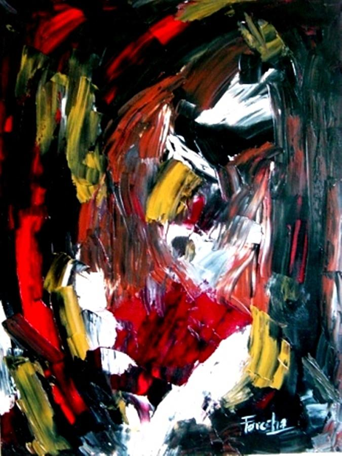 Abstract Painting - Where I Am Coming From  by Fareeha Khawaja