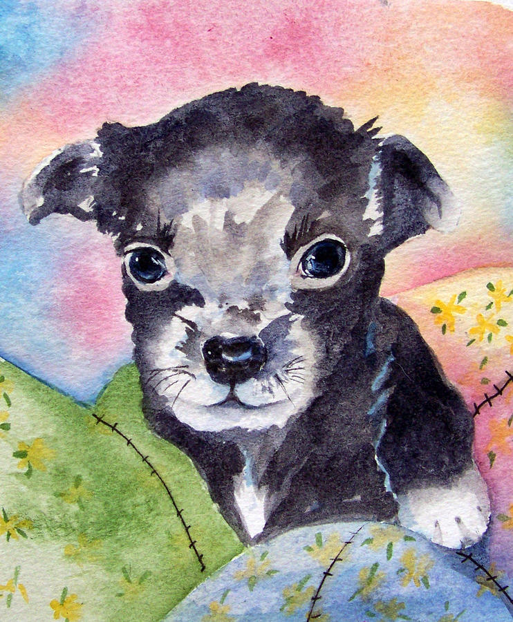 Chihuahua Painting - Where Is My Mom by Gina Hall