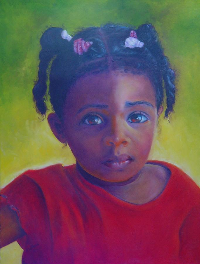 Child Painting - Where Is My Mommy by Merle Blair