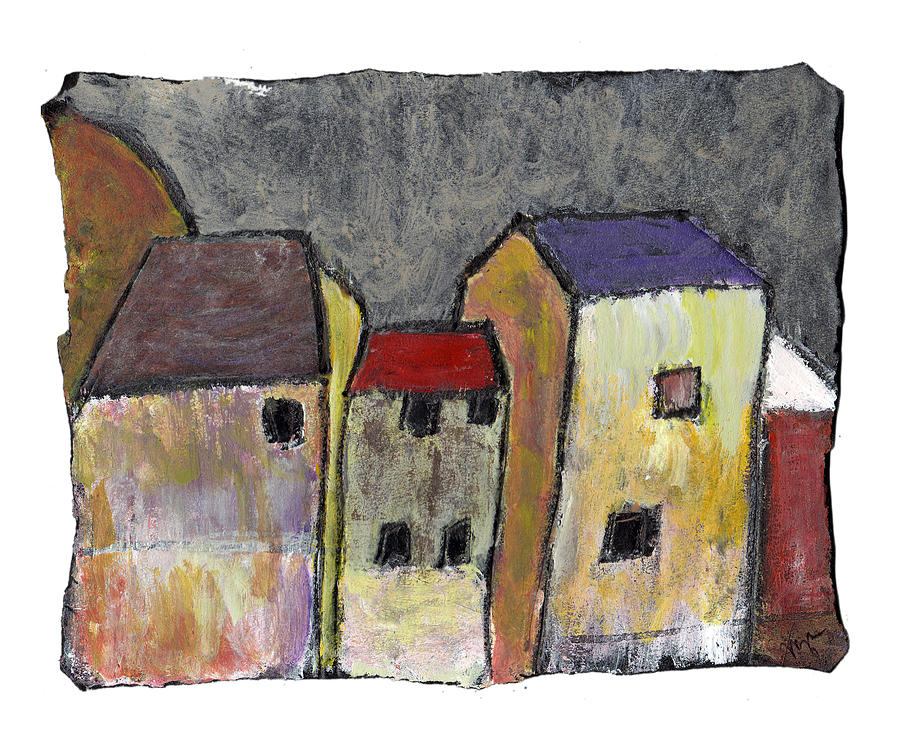 Buildings Painting - Where Once There Was by Wayne Potrafka