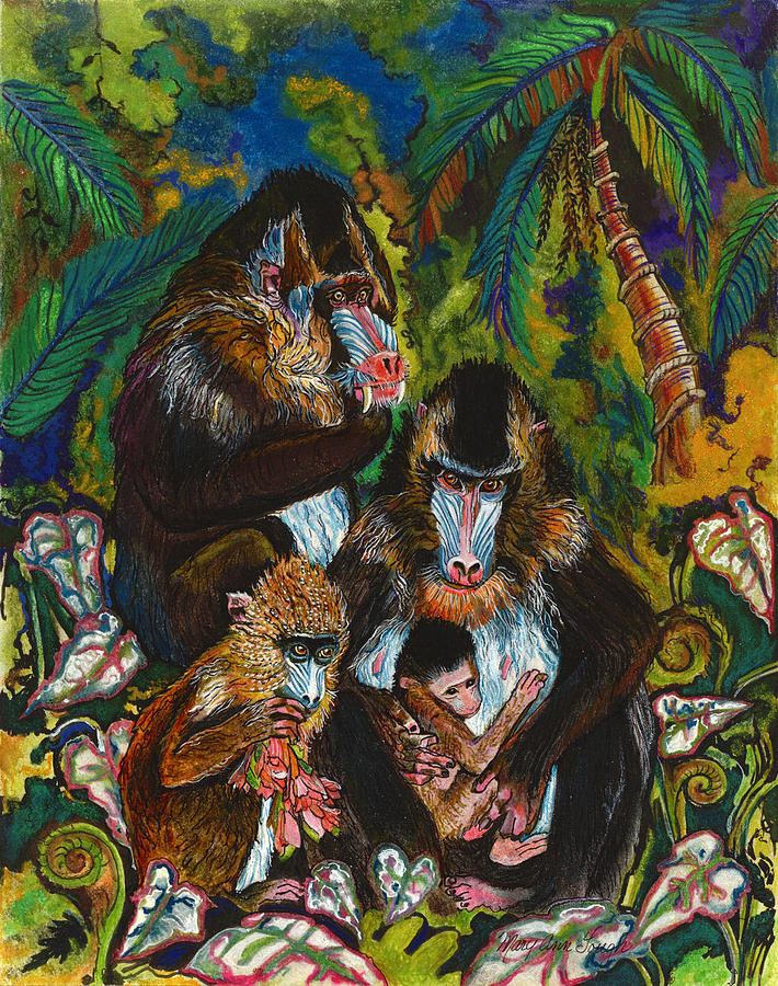 Wildlife Painting - Where shall we go by Mary Ann Gough