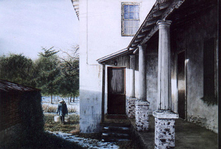 Farm House Painting - Where The Heart Is by Steven J White PWS