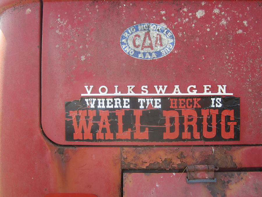 Bumper Sticker Photograph   Where The Heck Is Wall Drug By Glenn Smith Part 46