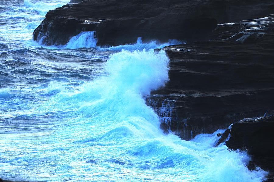 Ocean Photograph - Where The Land Meets The Ocean by Richard Henne