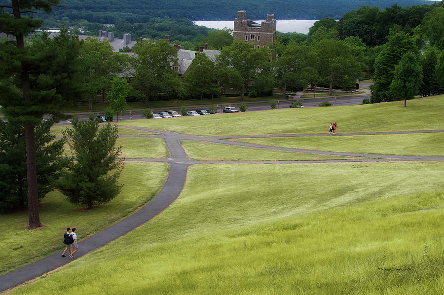 Cornell University Photograph - Where The Paths Cross Cornell University Ithaca New York by Thomas Woolworth