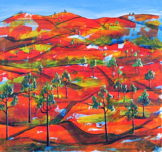 Landscape Painting - Where The Road Goes      by Rollin Kocsis