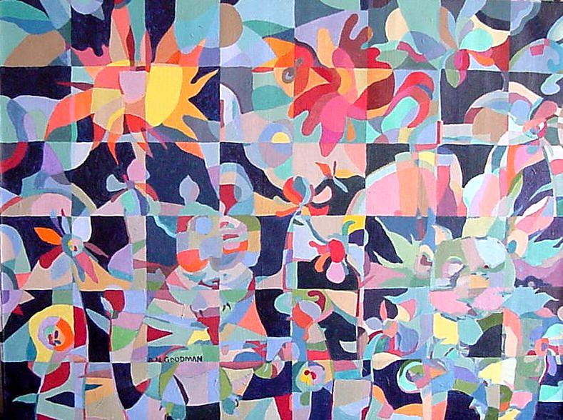 Abstract Painting - Where The Wild Things Are by Bernard Goodman