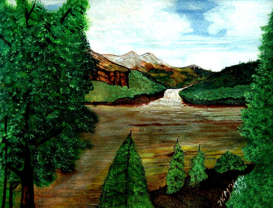 Water Painting - Where Water Meets by Willie McNeal