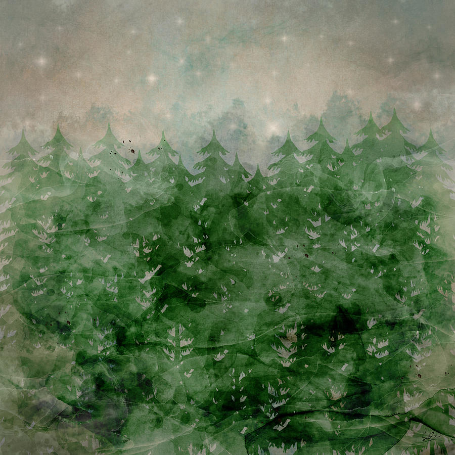 Wilderness Painting - Where Wild Stars Fall  by Bri Buckley
