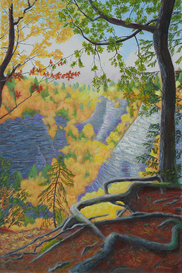 Whetstone Gulf State Park Painting - Whetstone Gulf State Park Ny Gorge by Robert P Hedden