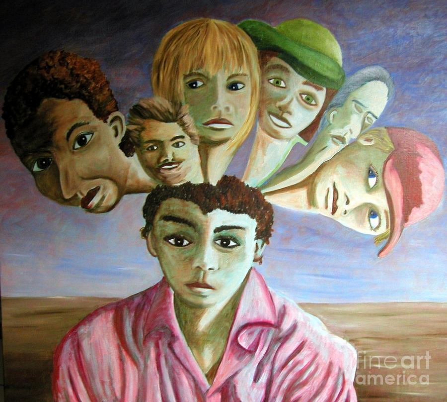 Which Of My Sub Personalities Is The Real Me Painting by Tanni Koens
