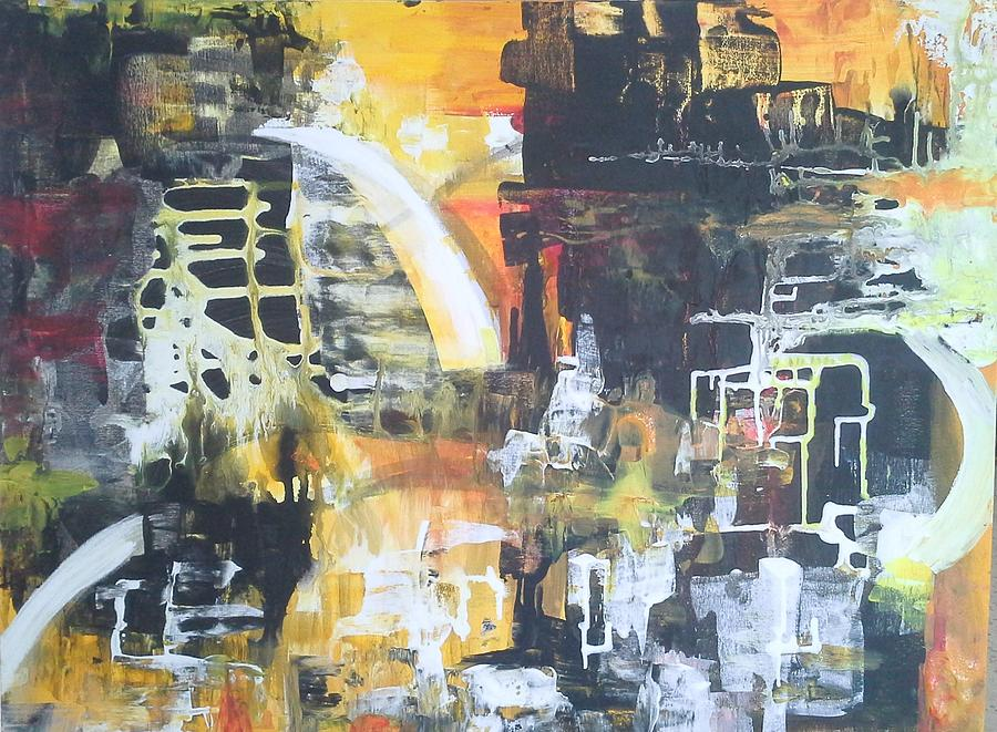 Which Way Painting by Joy Fahey