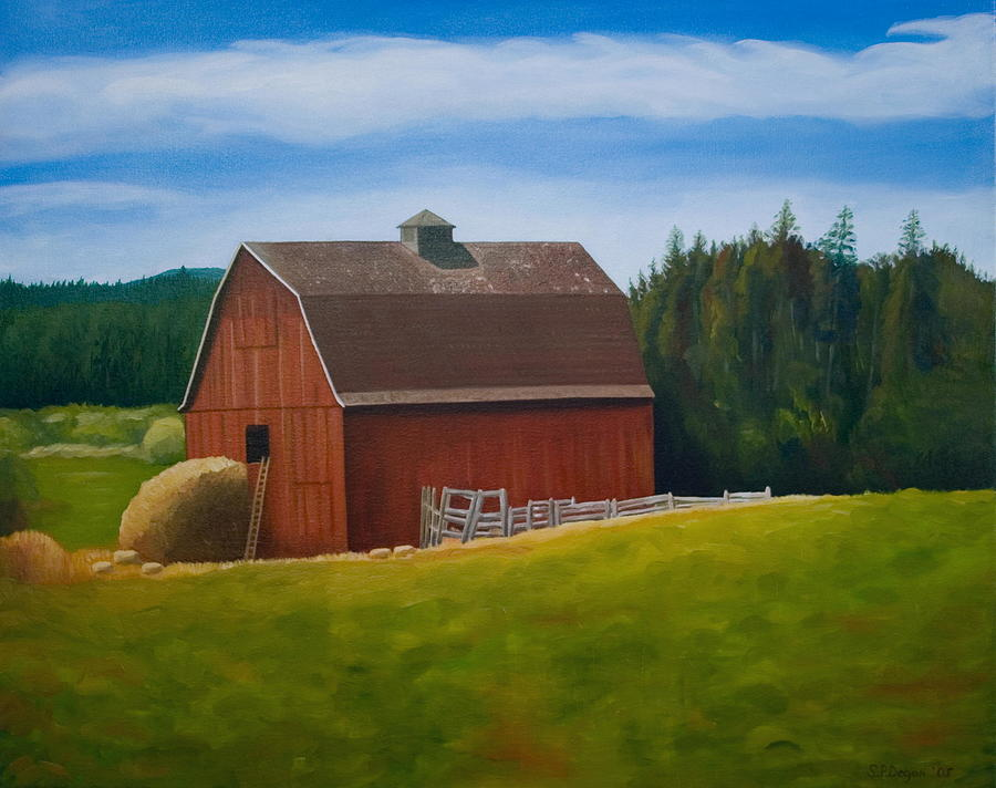 Landscape Painting - Whidbey Island Barn by Stephen Degan