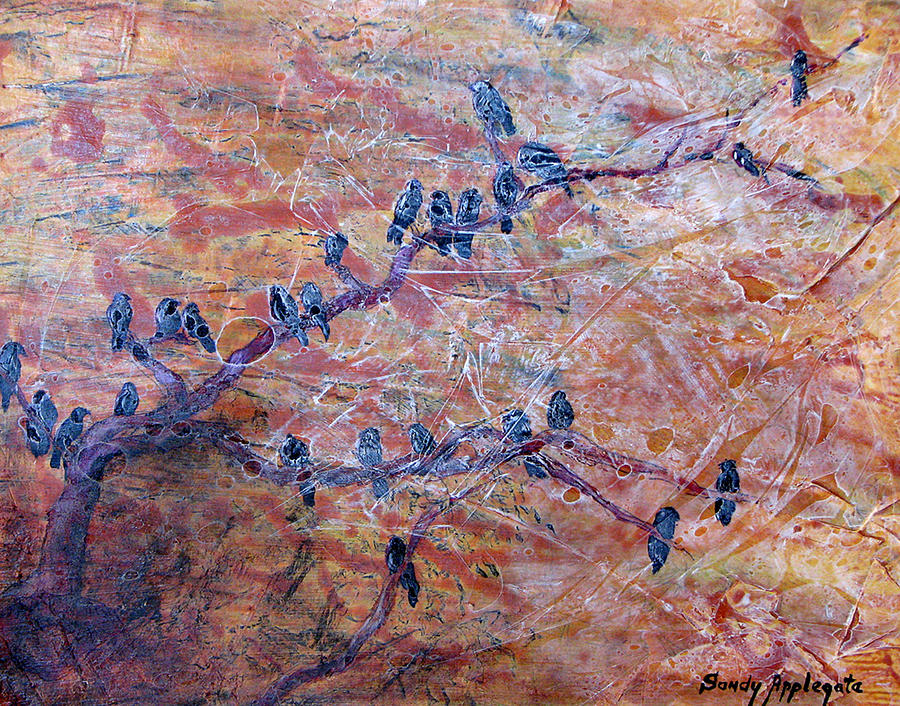 Raven Painting - While I Nodded by Sandy Applegate