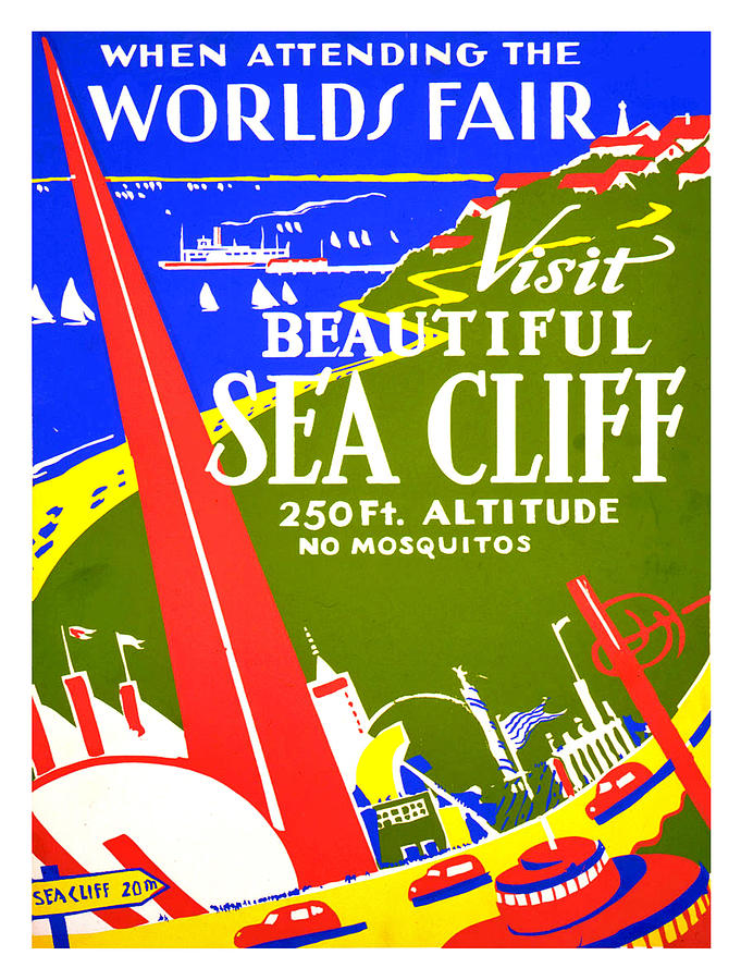 Worlds Fair Painting - While In Worlds Fair, Visit Sea Cliff by Long Shot