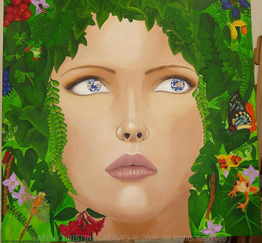 Mother Nature Painting - While Theres Life Theres Hope by Karen Greaves
