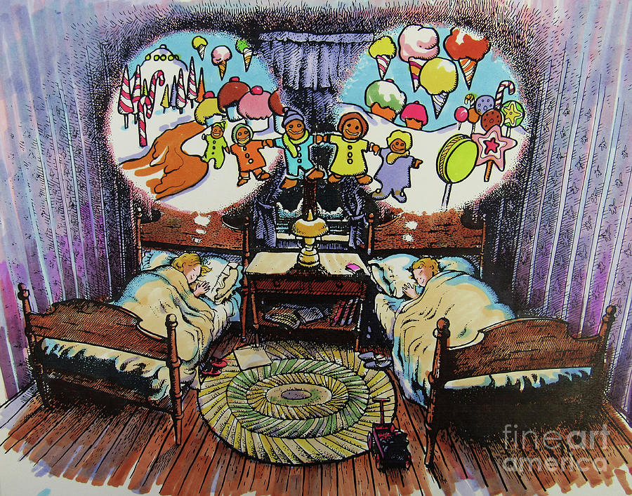 Sugarplums Drawing - While Visions Of Sugarplums... by Don Locke