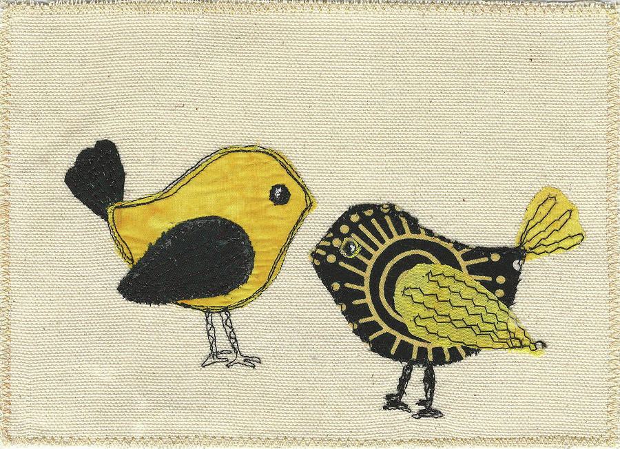 Whimsical Birds Tapestry - Textile - Whimsical Bird 2 by Dolores Fegan