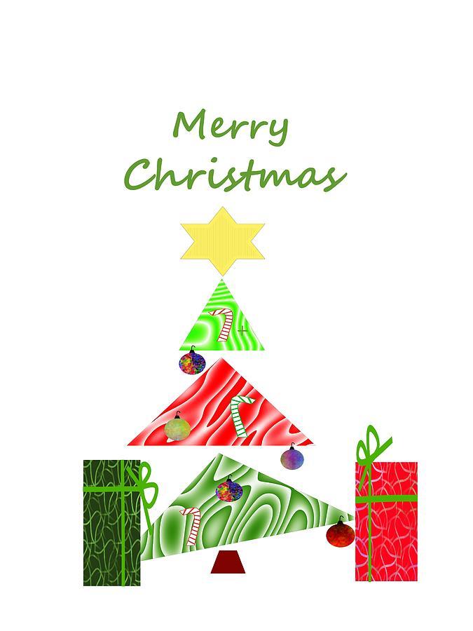 christmas presents mixed media whimsical christmas tree by kathleen sartoris