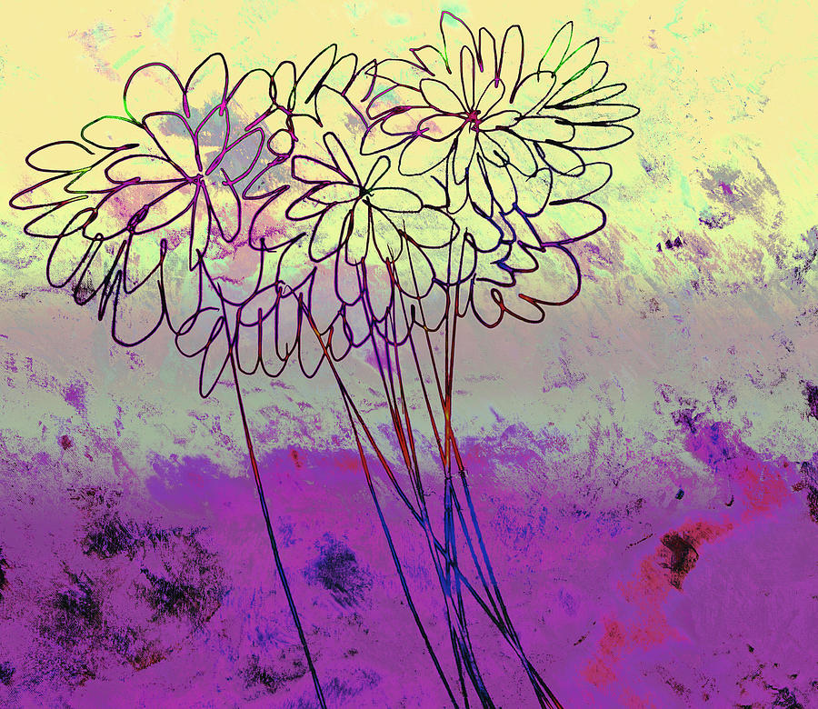 Flower Painting - Whimsical Flower Bouquet by Ann Powell