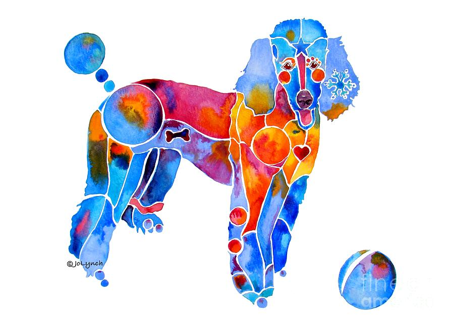 Poodle Painting - Whimsical French Poodle by Jo Lynch