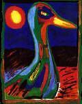 Whimsical Goose Painting by Jon noah