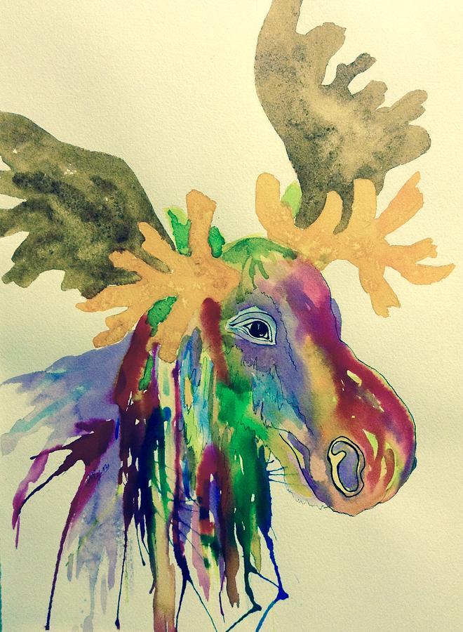 Very Moose Head Paintings | Fine Art America BN49