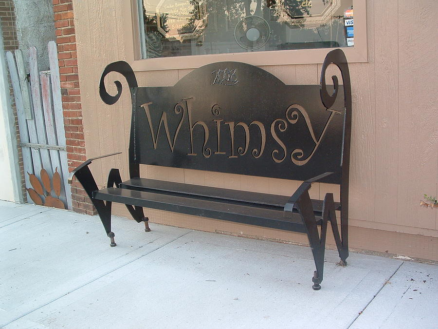 Steel Sculpture - Whimsy Bench by Buzz Ferrell